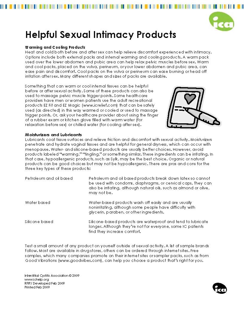 Helpful Intimacy Products (Feb 2009) - Interstitial Cystitis
