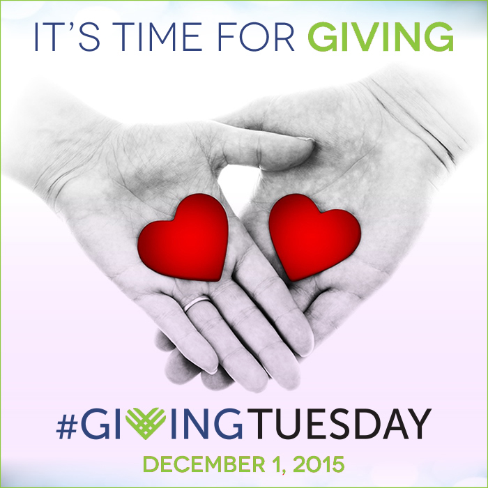 GivingTuesday 2015 hearts in hands green